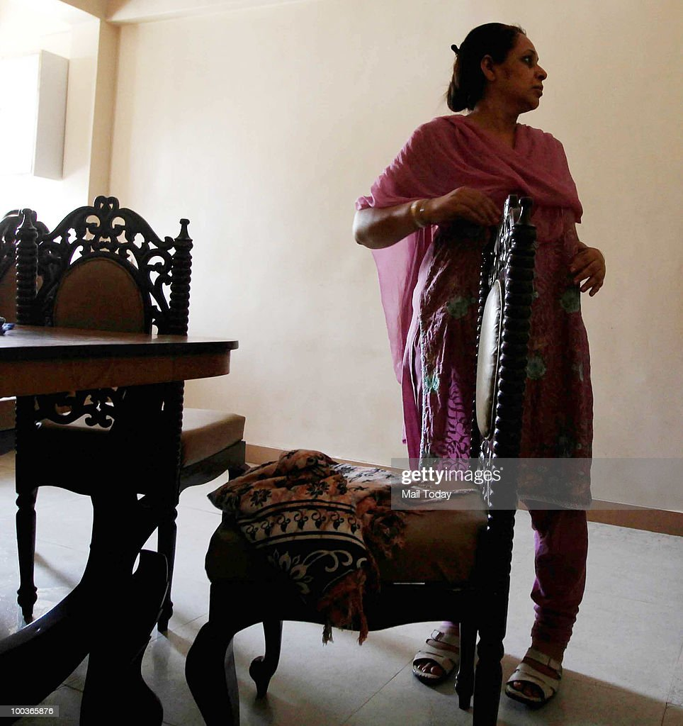 A family member of Capt HS Ahluwalia, the co-pilot of the ill-fated Air India Express that crashed in Mangalore on Saturday morning, at his residence in Mumbai on May 22, 2010.