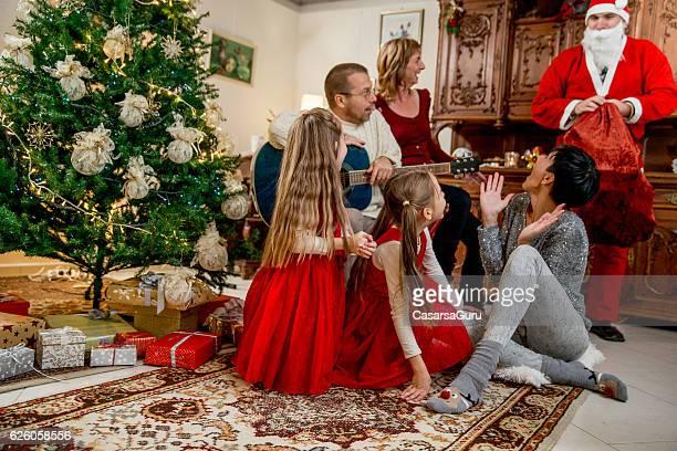 Family Member Surprises the Little Girls on Christmas Eve