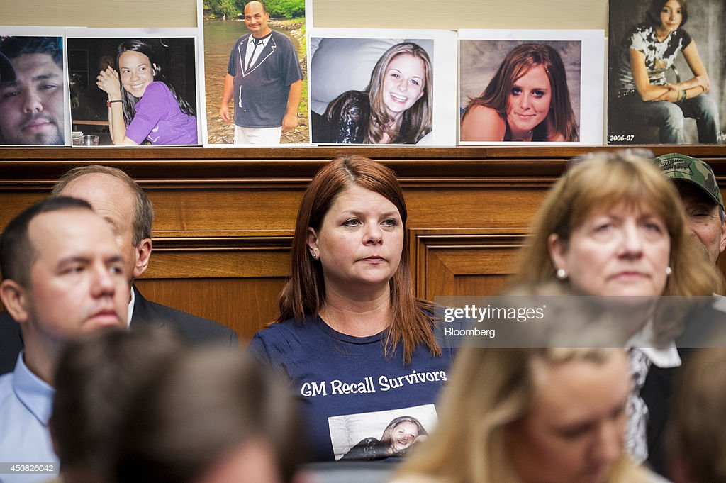 Family members and people who lost loved ones due to accidents caused by a defective ignition switch in General Motors Co cars wait to hear testimony...