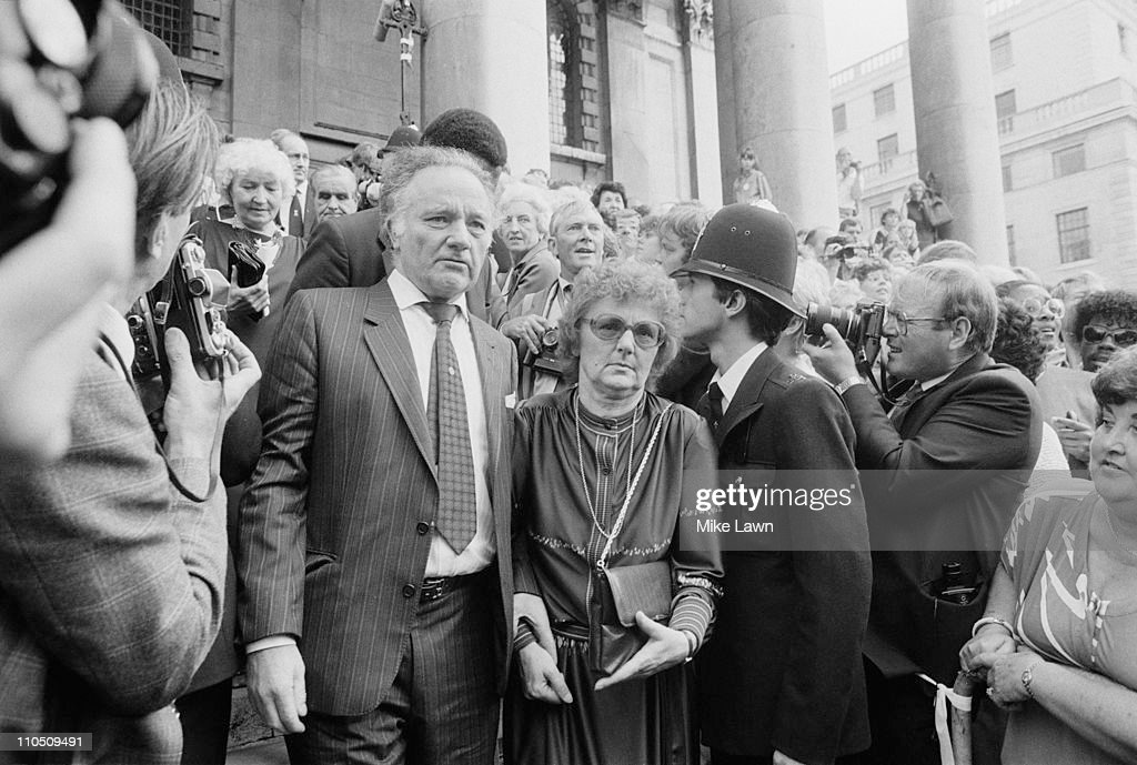 Family members attend a memorial service for Welsh actor Richard Burton at St-Martin-in-the-Fields Church, London, 30th August 1984.