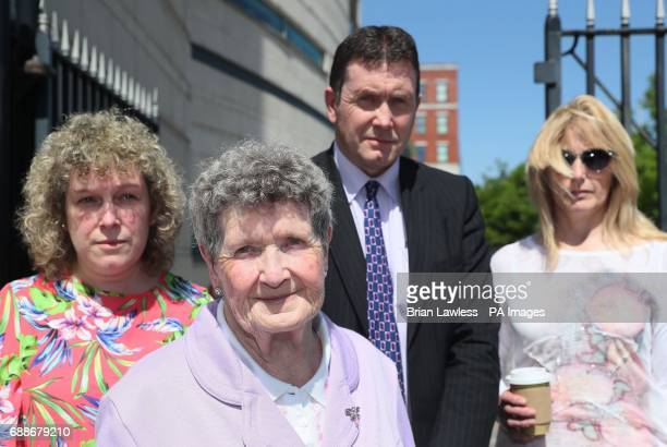 Family members of Kingsmill massacre victim Ken Worton Racquel Brush daughter Beatrice Worton mother Colin Worton brother and Barbara Worton...