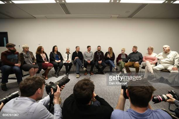 Family members of Mellisa Payne Cochran and Kurt Cochran answer questions from the press at New Scotland Yard on March 27 2017 in London England Kurt...
