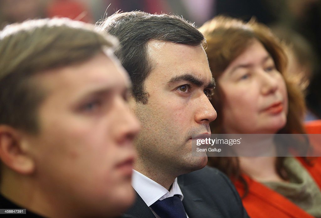 Family members of Mikhail Khodorkovsky, the former Yukos oil company chairman who was charged with embezzlement and tax evasion, including his son Pavel Khodorkovsky (C), first wife Elena Khodorkovskaya (R) and the son of Khadorkovsky's former business associate Platon Lebedev (L) look on as he speaks to the media at his first press conference since his release from a Russian prison two days before on December 22, 2013 in Berlin, Germany. Khodorkovsky flew to Berlin and was received by former German Foreign Minister Hans-Dietrich Genscher and has also been reunited with his family. Khodorkovsky spent 10 years in prison until his unexpected pardon by Russian President Vladimir Putin.