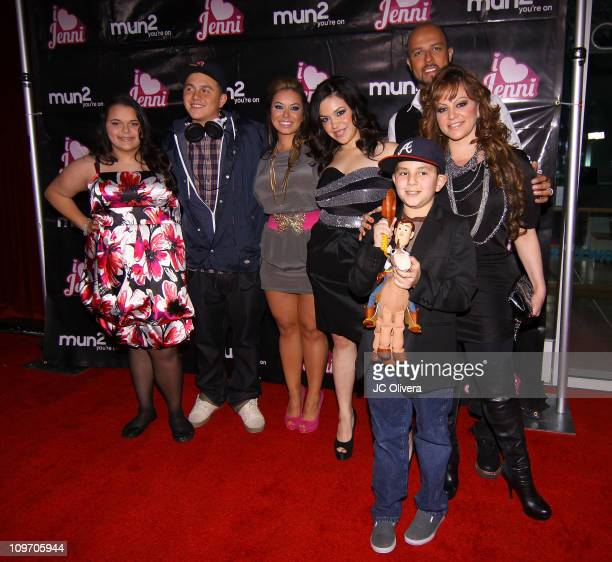 Family members of singer Jenni Rivera attend the premiere of mun2's 'I Love Jenni' reality series at W Hollywood Hotel on March 1 2011 in Hollywood...