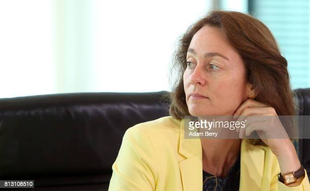 Family Minister Katarina Barley arrives for the weekly German federal Cabinet meeting on July 12 2017 in Berlin Germany High on the meeting's agenda...