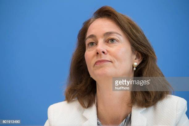 Family Minister Katarina Barley attends a news conference to illustrate the work of the party during the last legislation at Bundespressekonferenz in...