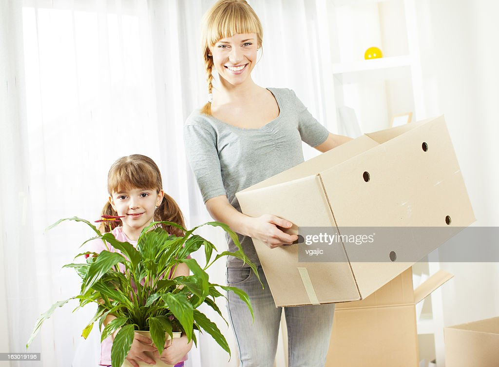 Family Moving House. : Stock Photo