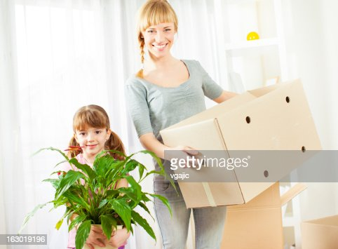 Family Moving House. : Stock Photo
