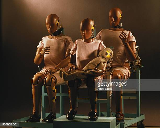 Family of auto impact test dummies