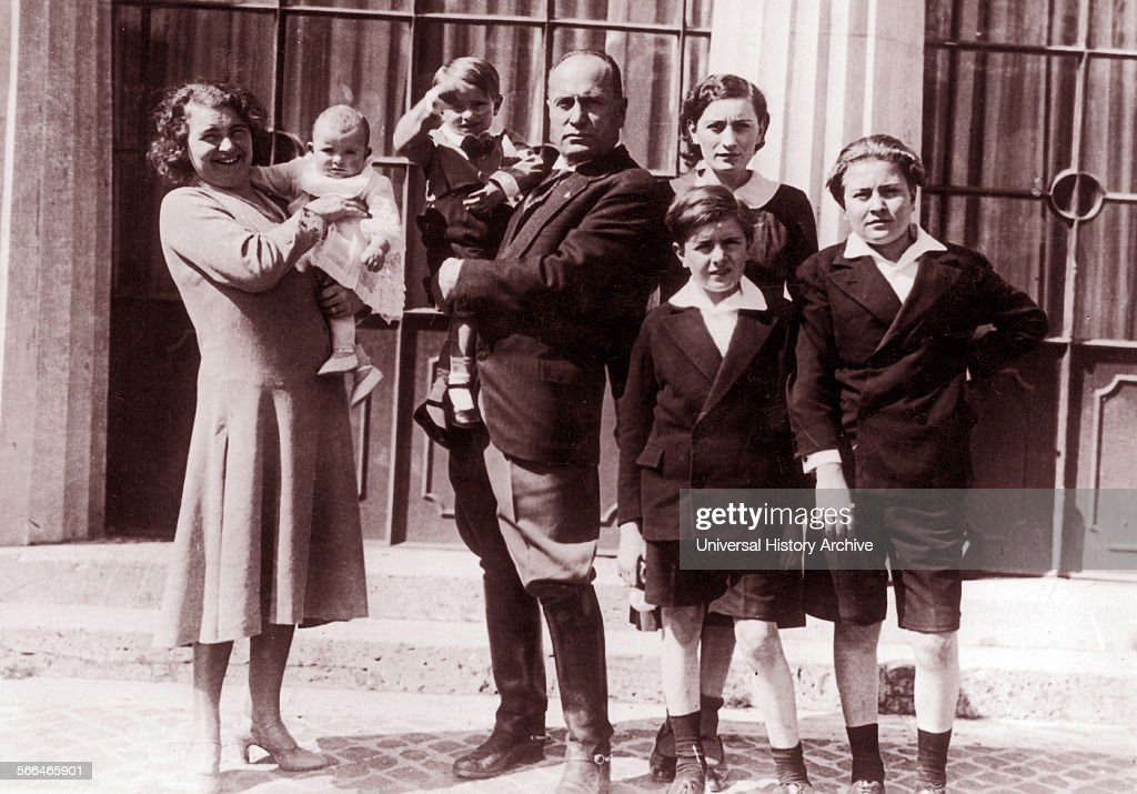 Family of Benito Mussolini Italian politician journalist and leader of the National Fascist Party