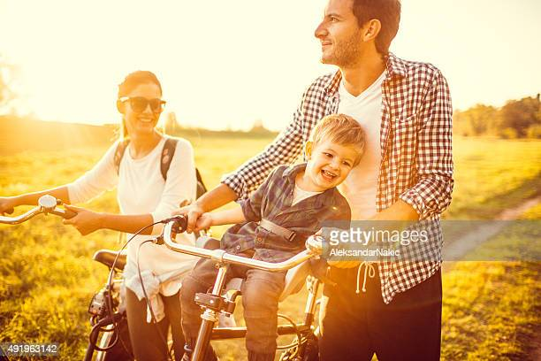 Family of bike lovers