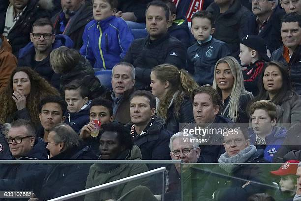 family of Justin Kluivert of Ajaxduring the Dutch Eredivisie match between Ajax Amsterdam and ADO Den Haag at the Amsterdam Arena on January 29 2017...