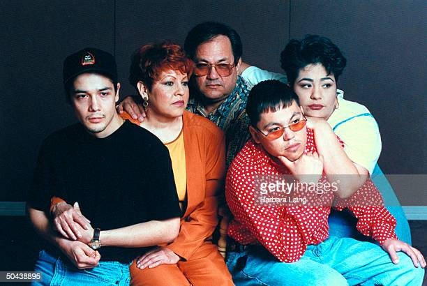 Family of late tejano singer Selena who was shot by her former fan club pres Yolanda Saldivar husband Chris Perez parents Marcela Abraham Quintanilla...