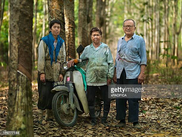 A family of rubber tappers.