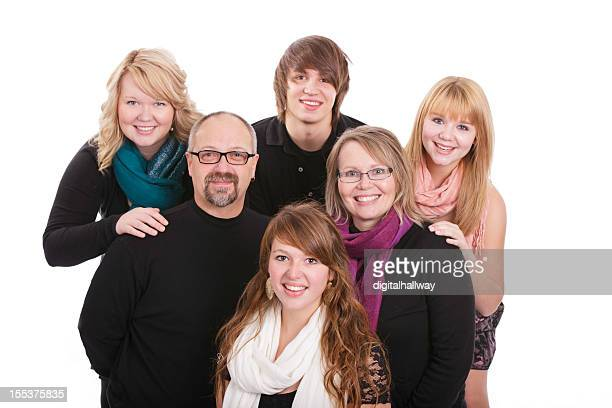 Family of Six posing for portrait