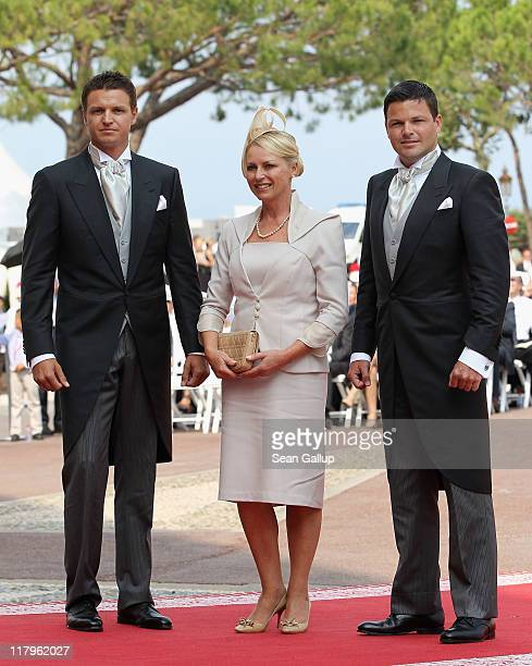 Family of the bride Gareth Wittstock Lynette Wittstock and Sean Wittstock attend the religious ceremony of the Royal Wedding of Prince Albert II of...