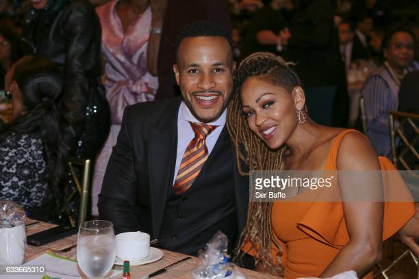Family Of The Year recipients DeVon Franklin and Meagan Good attend the 23rd Annual Unity Awards ceremony at the Beverly Wilshire Four Seasons Hotel...