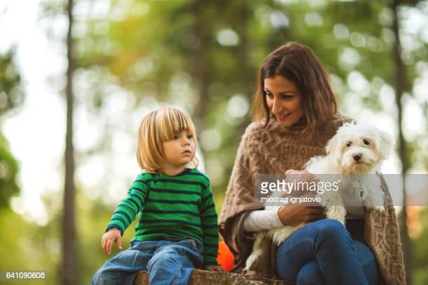 Familie von drei