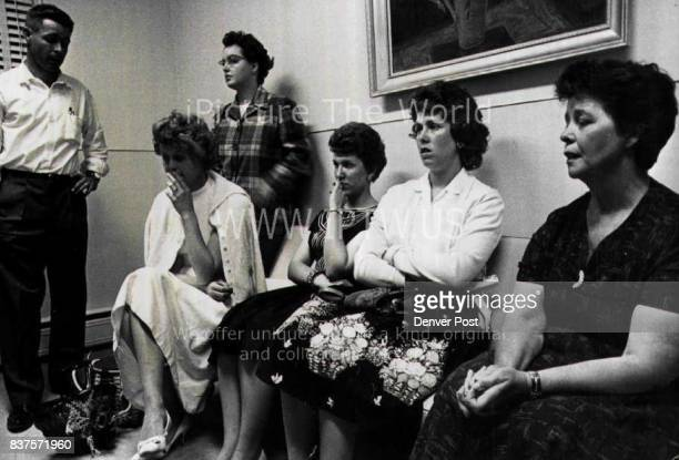 Family Of Wounded Sheriff Chancy Van Pelt Wait At Hospital While He Battles Death From left onyl son Warren Van Pelt daughter Mrs Pat Scholl daughter...