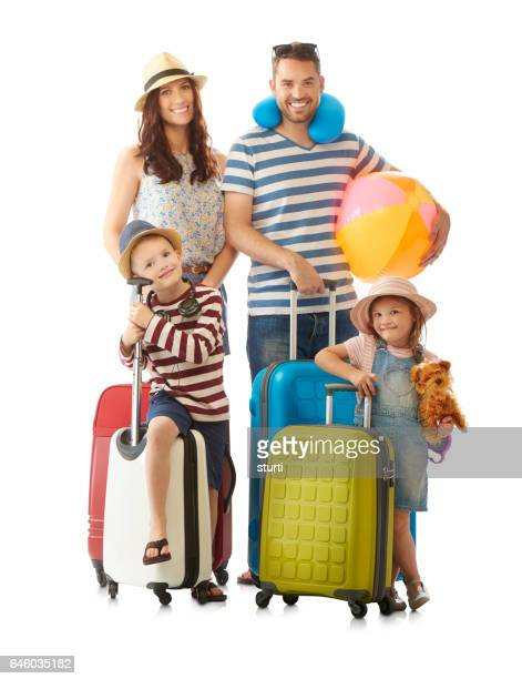 family off on summer holidays