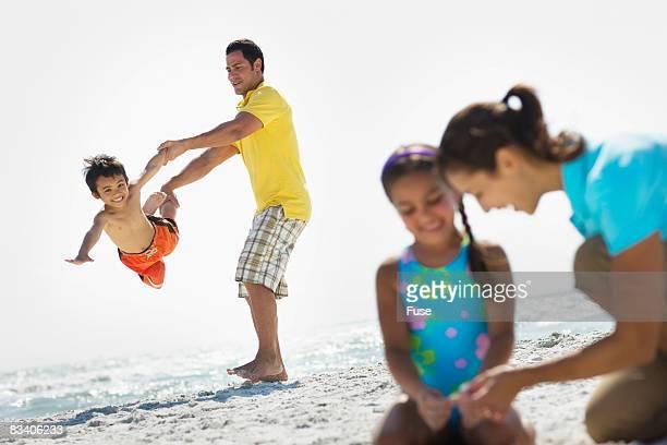 Family on a Beach Vacation