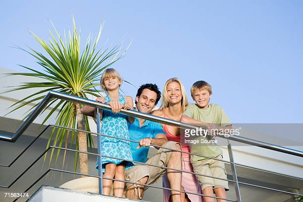 Family on balcony