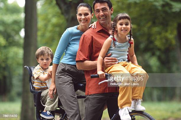 Family on bicycle