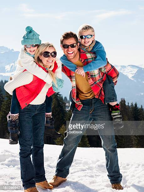 Family On Mountain Top