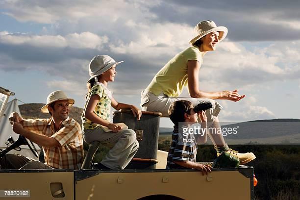 Family on Safari