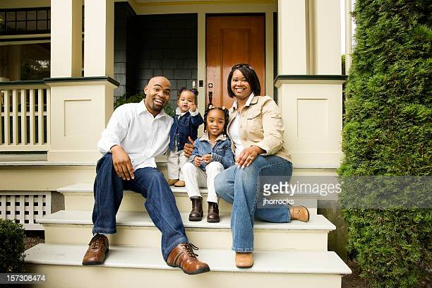 Family on Steps