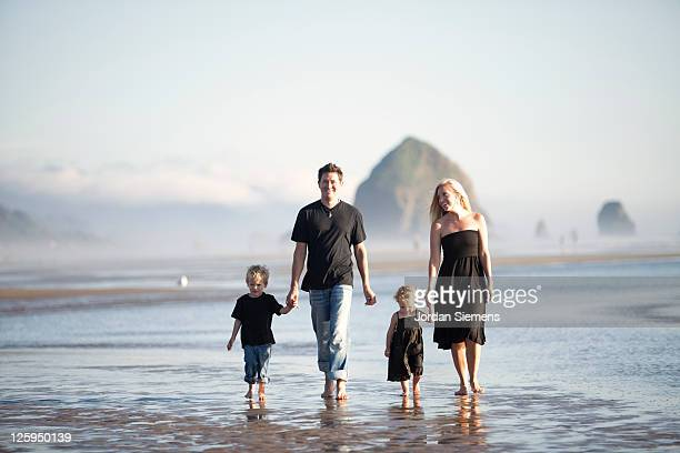 Family on vacation at the ocean.