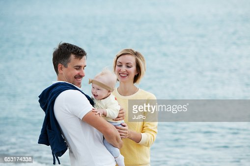Family on vacation : Stockfoto