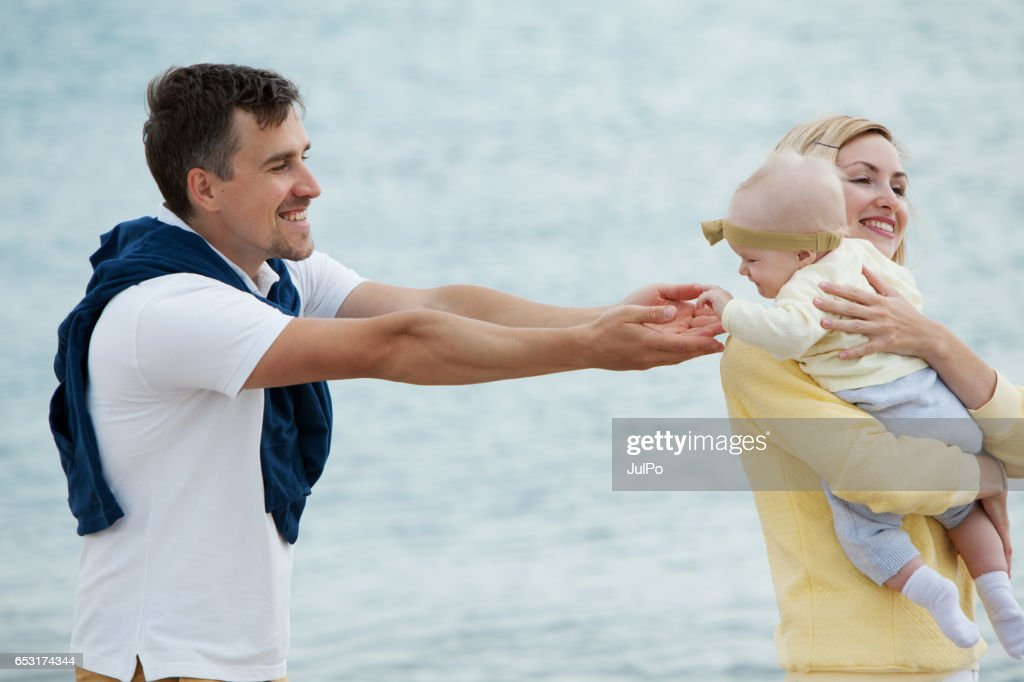 Family on vacation : Foto stock
