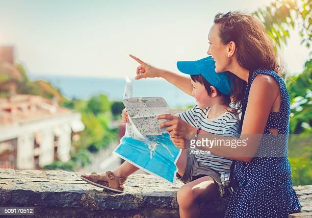Familie auf Urlaub