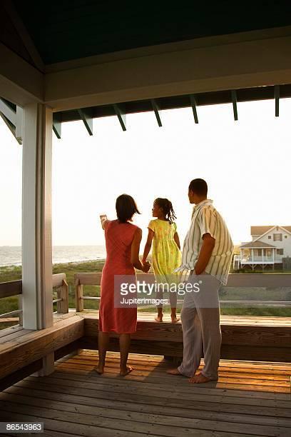Family on veranda