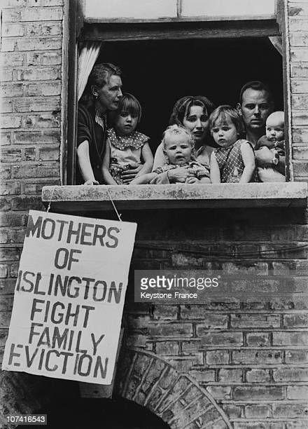 Family Opposed To The Court Eviction Order Of Their Home In London On September 22Nd 1961