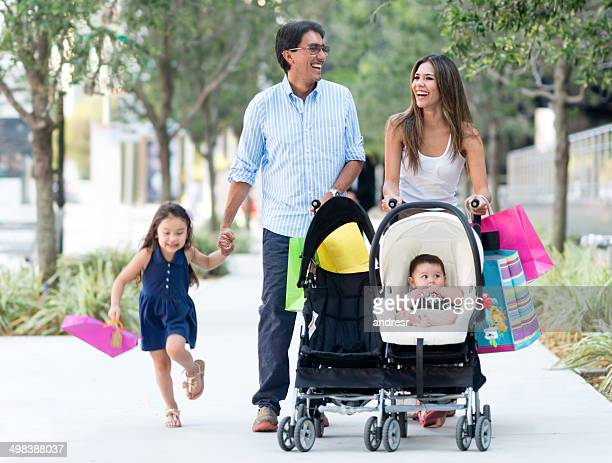Family out shopping