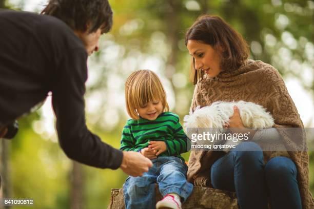 Familie im Freien