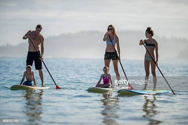 Paddleboard en famille à Hawaii