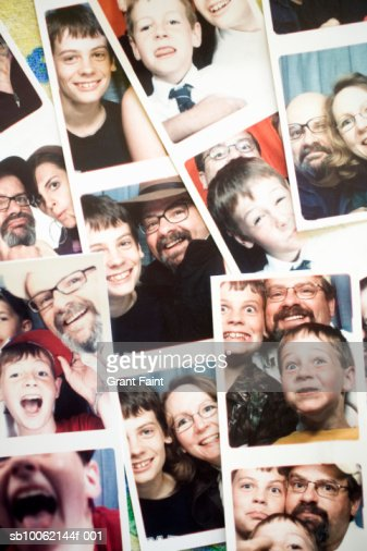 Family photo stripes : Stock Photo