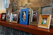 Family Photos on Mantle Angled