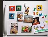 Family Photos on Refrigerator