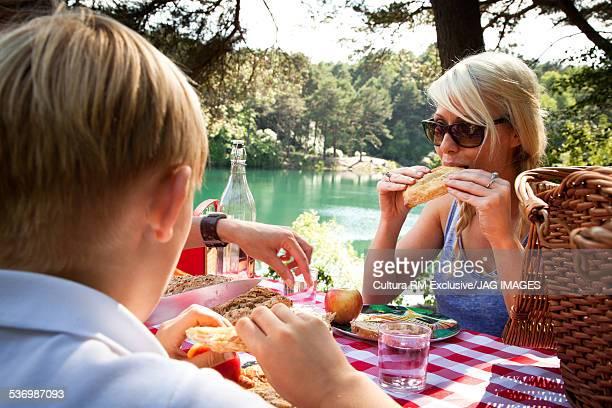 Family picnic, The Blue Pool, Wareham, Dorset