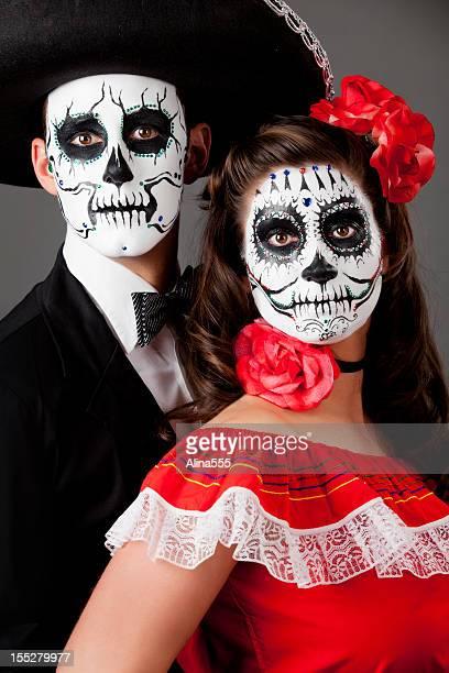 Familie Aufnahme: Day of the Dead Paar