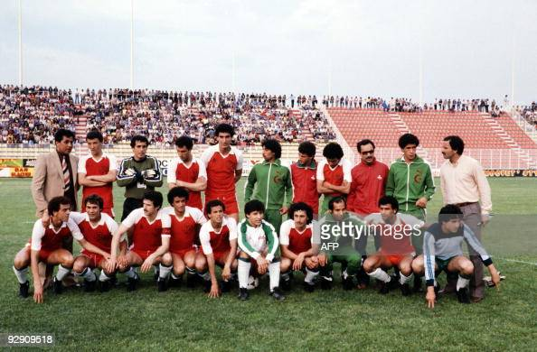 A family picture shows the Algerian team selected for the 1982 World Cup in Spain The Algerian team who will face West Germany Austria and Chile ine...