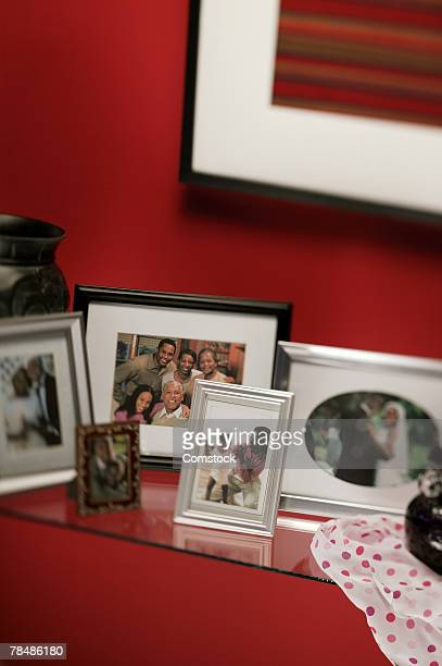 Family pictures in frames