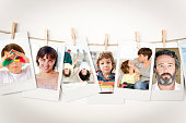 Family pictures Instant Photo Prints Collection (clipping path)