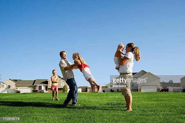 Family Play Time in the Park