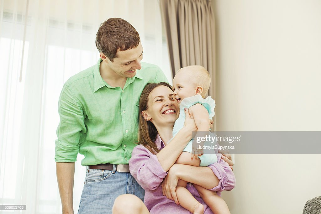 Family playing with the child : Stock Photo