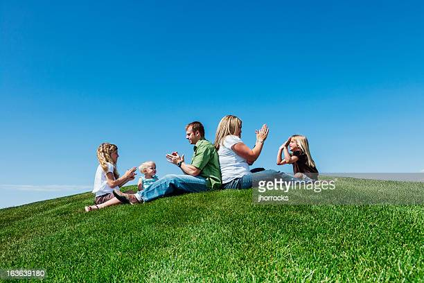 Family Playtime in The Park